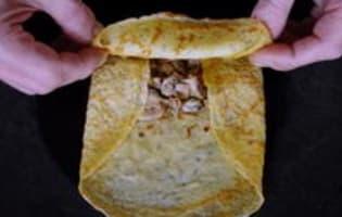 Crêpes en pannequets - Etape 6