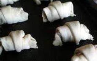 Minis croissants apéritifs - Etape 9