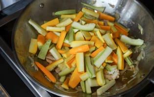 Wok de porc, crevettes et langoustines - Etape 8