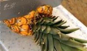 Préparer un ananas frais - Etape 2