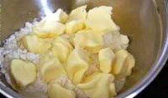 Crumble pommes myrtilles - Etape 3