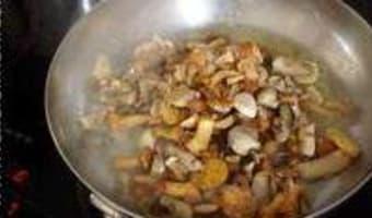 Poêlée de champignons sauvages - Etape 7