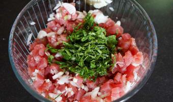 Tartare de thon aux saveurs asiatiques - Etape 7