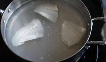 Filets de turbot pochés - Etape 4