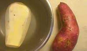 Frites et chips de patate douce - Etape 2