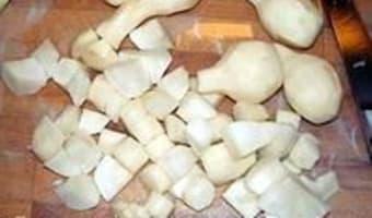 Potage aux topinambours et salade de saison - Etape 5