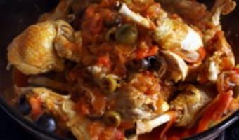 Poulet basquaise - Etape 12