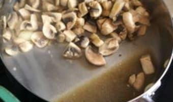 Velouté de champignons - Etape 5
