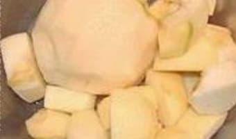 Pâtes de fruits pomme coing - Etape 1