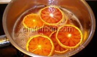 Amaretti à l'orange - Etape 1