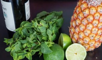 Carpaccio d'ananas exotique - Etape 1