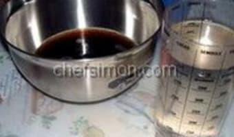 Sorbet (coca) cola - Etape 1