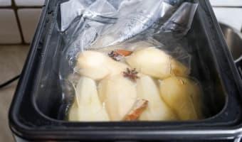 Poires cuites sous vide - Etape 5