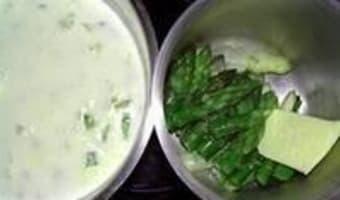 Crème d'asperges - Etape 7