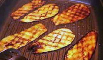 Tranches d'aubergines grillées - Etape 5