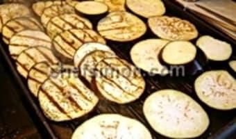 Tranches d'aubergines grillées - Etape 4