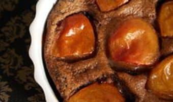 Clafoutis aux abricots et au chocolat - Etape 12