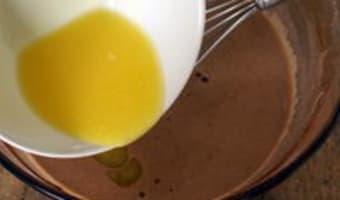 Clafoutis aux abricots et au chocolat - Etape 6