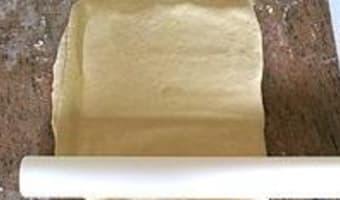 Croissants et pains au chocolat - Le tourage en portefeuille - Etape 3