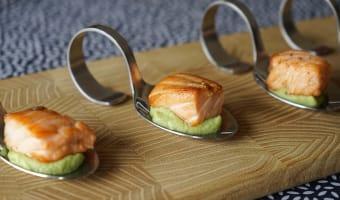 Dés de saumon mi-cuit - Etape 11