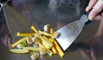 Filets de rougets à la plancha - Etape 3