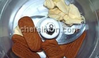 Fond de biscuits émiettés - Etape 1