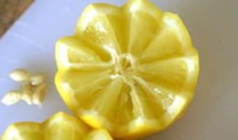 Historier un citron en dents de loup - Etape 6