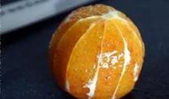 Peler une orange à vif - Etape 8