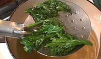Feuilles de céleri frites - Etape 4