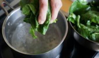 Préparer les épinards - Etape 5