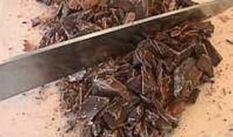 Tabler le chocolat au marbre - Etape 3