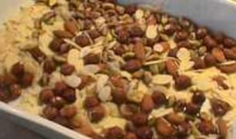 Petits moelleux au miel et fruits secs - Etape 1