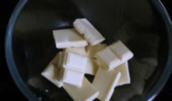 Mousse au chocolat blanc - Etape 1