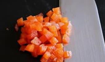 Peler un poivron au couteau - Etape 11