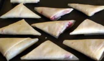 Samoussas framboises chocolat blanc - Etape 11