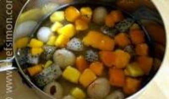 Glace à l'italienne aux fruits exotiques - Etape 2