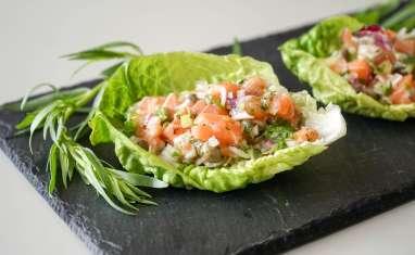 A chacun sa version du tartare de saumon
