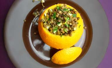 Salade de lentilles à l'orange