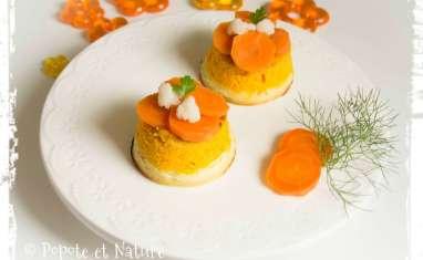 Mousse aux carottes, chou fleur et Chabichou du Poitou
