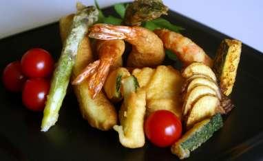 Beignets et tempura