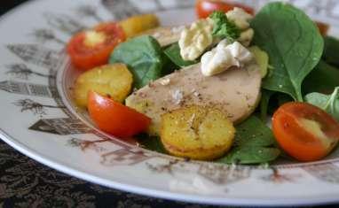 Salade de saison au foie gras