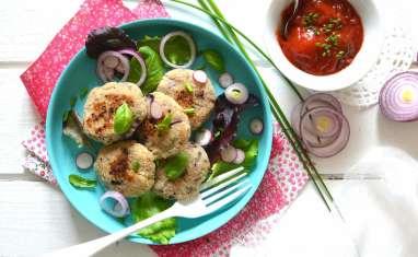 Bouchées végétales aux oignons rouges