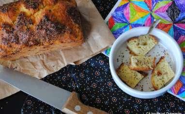Cake au fromage, croûte de poivre à l'ail