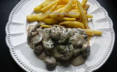 Steak aux champignons