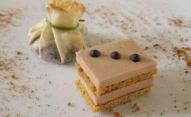 Foie gras façon opéra et aumônière de figues