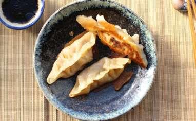 Raviolis chinois au potimarron et au chorizo