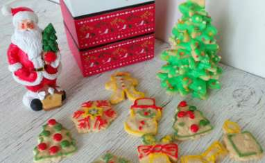 Petits sablés shortbread à la cannelle décorés