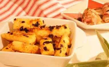 Frites de polenta aux olives
