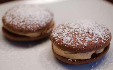 Whoopies pies au chocolat et au beurre de cacahuètes