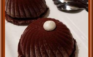 Dômes chocolat noir et noix de coco
